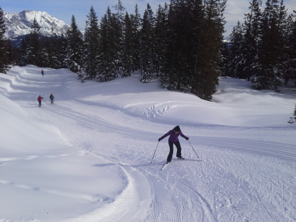 A lot of uphill skiing. Loved and hated almost every bit of it :)