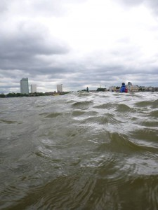 London choppy paddle