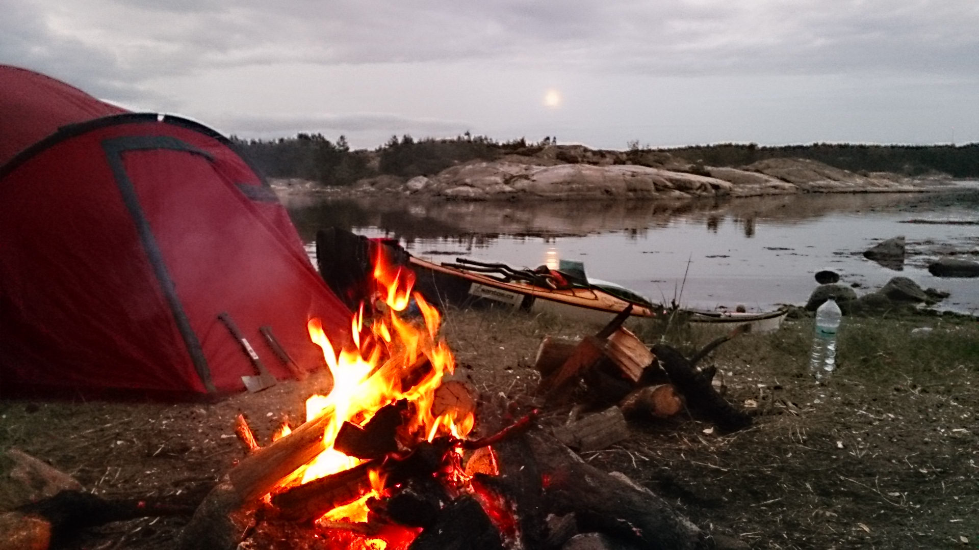 Nothing is better than a fire to dry things and keep warm