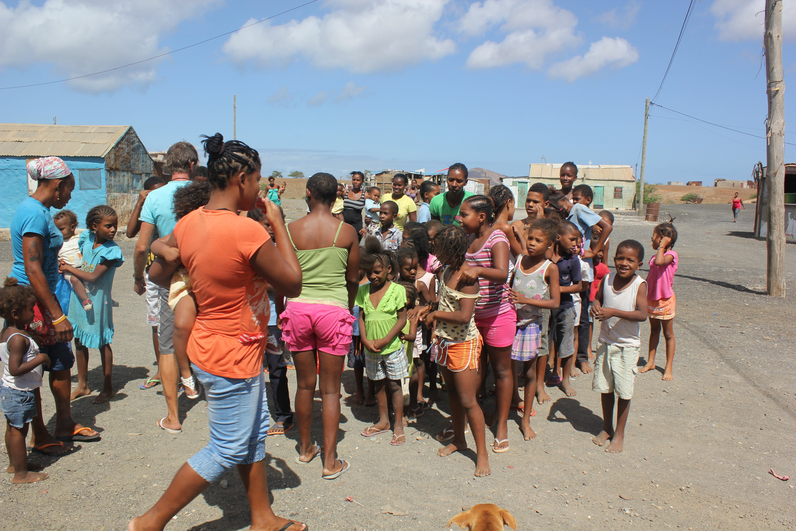 we visited shanty town in Espargos to bring food to children