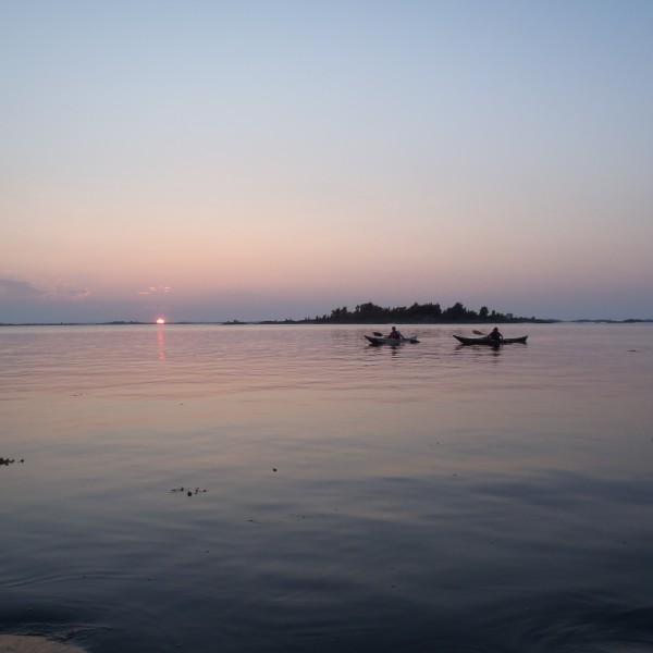 Sunset, beautiful paddle