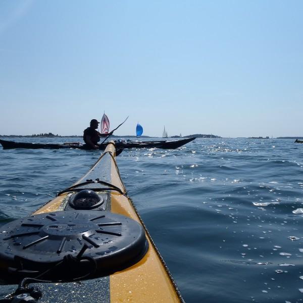 "Crossing one of the boat ""motorway"""