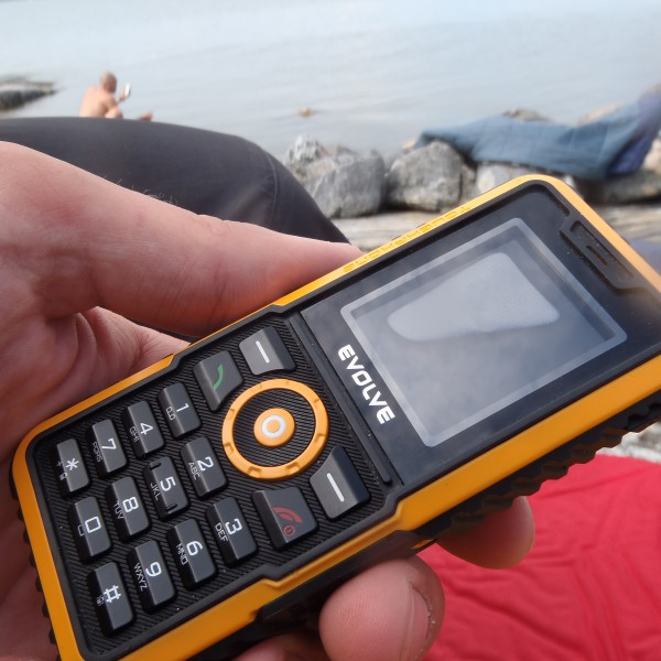 My super tough outdoor phone (cheap) dropping tears from moisture. The phone is fine and working after rolling with it