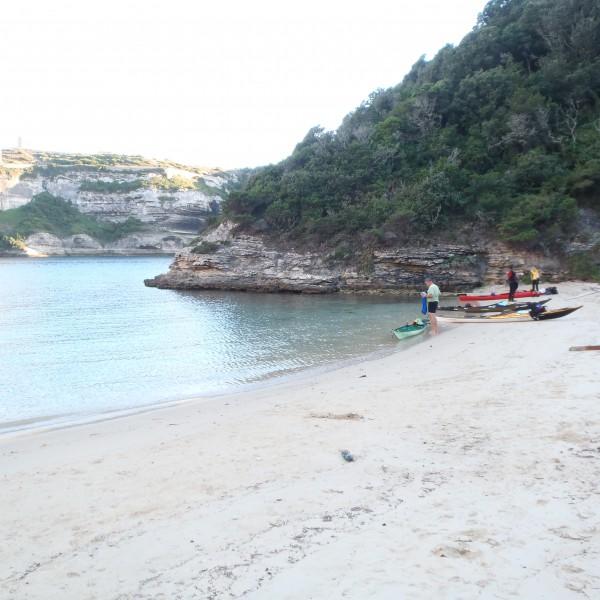 this beach is just next to Bonifaccio port