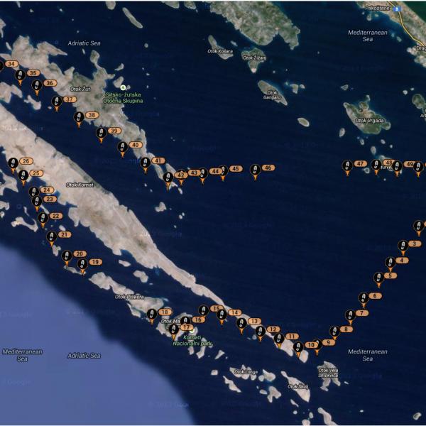 Snímek trasy (přes SPOTtracker)