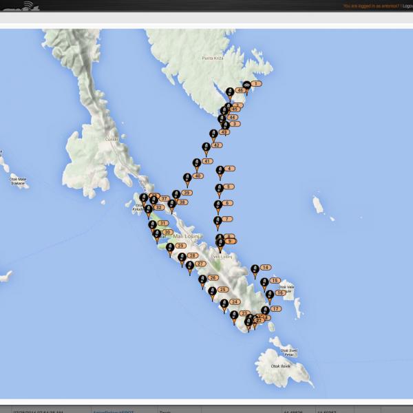 Mapa plavby ze spotu